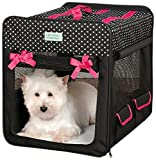Cruising Companion Polka Dot Collapsible Dog Crate