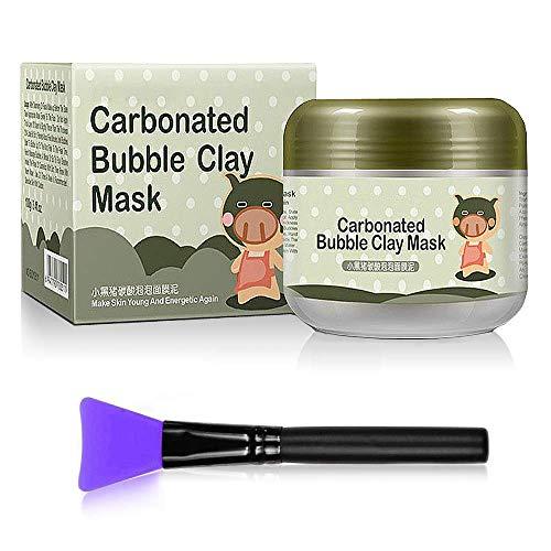 Maschera Viso Argilla Carbonated Bubble Clay Mask, MS.DEAR Maschera Viso Idratante Pulizia cura del viso profonda dei Pori/Whitening/Idratante Maschera di Fango