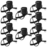 Retevis Two Way Radio Speaker 2 Pin Handheld Speaker Mic Headset for UV-5R/UV-5RA/888S/KENWOOD