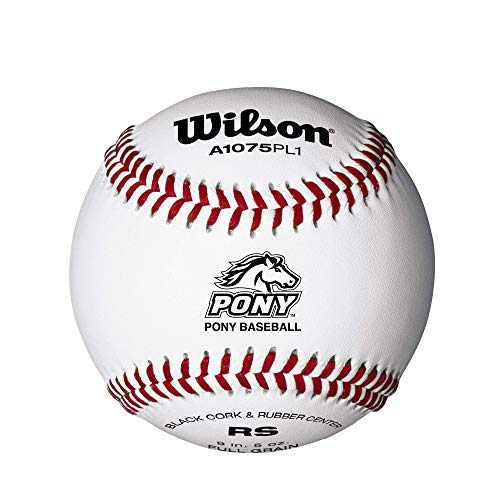 Wilson Pony League - Balón de béisbol (12 Unidades), Color Blanco ...