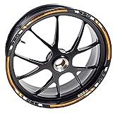 Aufkleber 390 Motorrad Duke für 2 Felgen 390-RC Adventure Rad Klebeband Vinyl kompatibel mit Felgen KTM (Orange)