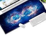 ZHANGSBD Extra di Grandi Dimensioni Del Mouse Pad Nebulosa spazio blu paesaggio Gaming Mousepad 900x400mm Anti-Slip Gomma Naturale con Bordo di Bloccaggio Mouse da Gioco zerbino Gaming Mouse Pad Gamer