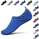 VIFUUR Sport Nautique Chaussures Femmes Hommes Réglable Mesh en Plein Air Pieds Nus Aqua Yoga Chaussettes pour La Plage...