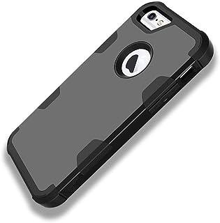 Funda iPhone 6S / 6 Plus, iPhone 6 / 6S Carcasa Cover Case 3 en 1 Hybrid Duro PC + Silicona Suave Interior Anti-Golpes Protectora Case (iPhone 6 / 6S, Negro)