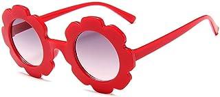 ZXFMT - Gafas de sol redondas bonitas con forma de flor para bebés y niñas para niños, gafas de sol para niños, gafas de sol de verano al aire libre