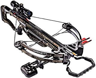 Barnett Whitetail Hunter II Crossbow | Shoots 350 FPS | Includes 4x32 Scope, Rope Cocking Device, Light Weight Quiver & Tw...