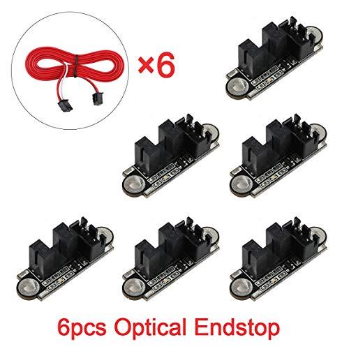 Innovateking-EU 6 Stücke Optische Endschalter mit 1 Mt Kabel Optischer Schalter Sensor Photoelektrische Lichtsteuerung Optische Endstop Modul für 3D Drucker