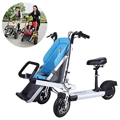 FLy Triciclo Plegable Bebe 2 En 1 Bicicleta Eléctrica para Niños Triciclo...
