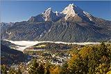 Poster 90 x 60 cm: Berchtesgaden mit Watzmann von Miles