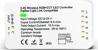 GIDERWEL Home Smart Zigbee LED Strip Controller RGBCCT Compatible with Hue Bridge SmartThings Amazon Echo Plus Alexa,Light...