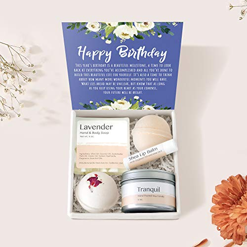Birthday Spa Gift Box: Happy Birthday, Birthday Gift, Gift for Her, Best Friend Gift, Presents, Heartfelt Card & Spa Gift Set for Women, girl, wife, etc