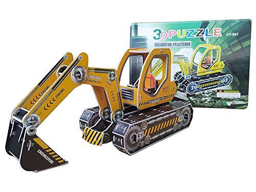 Puzzle 3D de Excavadora de Foam y Papel Kit de Montaje a Partir de 3 años en adelante Maqueta de construccion