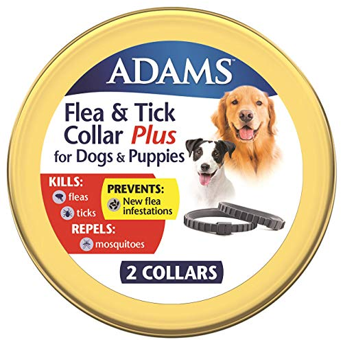 Adams Flea & Tick Collar Plus for Large Dogs, 2 Pack Grey One Size