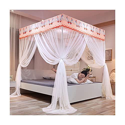 DSMGLRBGZ Mosquitera Cama Tela Dosel, Cama de 1.2Mx2.0M - Cama de 2.0Mx2.2M para Chicas & Adultos Twin a King Size Bed,Flesh,2.0mx2.2m Bed