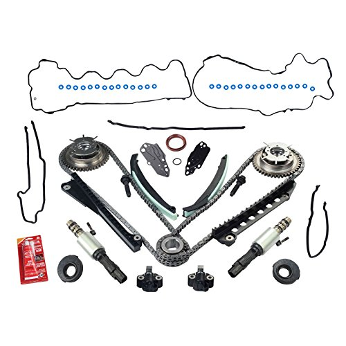 Yjracing Variable Camshaft Timing Chain Kit W/Cam Phasers and VVT Valves Replacemnt for 5.4L 3V 2005-2010 Ford F150 F250 F350 Super Duty, Expedition & Lincoln Navigator, Mark LT