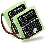 CELLONIC 2X Akku kompatibel mit AVM Fritz Fon MT-D, kompatibel mit Audioline Slim DECT 500 502 580 582, kompatibel mit Telekom Sinus 201 / A201 (600mAh) 5M702BMX,GP0735,GP0827 Ersatzakku Batterie