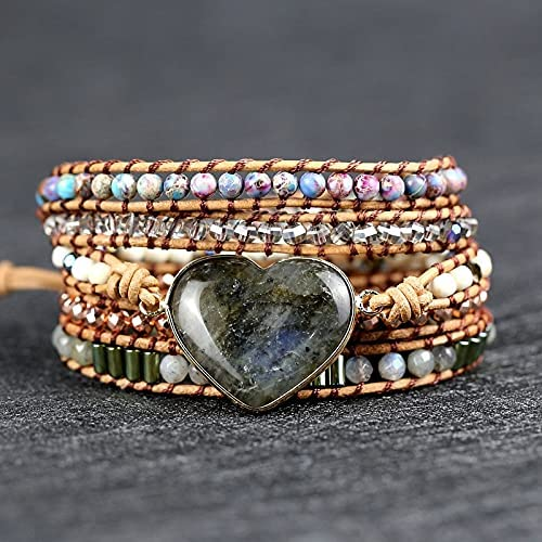 Fashion Sexy Boston Mall Bracelet Natural Stone 40% OFF Cheap Sale Woven Multilayer Hand Leathe