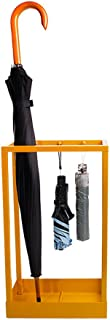 Yxsd Umbrella Stand Umbrella Rack Metal Free Standing Holder, for Canes/Walking Sticks, with Drip Tray/Hook,Square Yellow 301950.5 cm