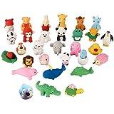 Radiergummi Tiere, MOPOIN 30 Stück Süße Tier Radiergummis Set Bunte Lustige Radiergummis Radierer Schulbedarf Kleine Geschenke für Kinder