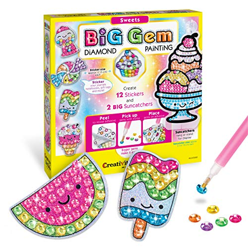 Creativity for Kids Big Gem Diamond Painting Kit - Create Your Own Sweets Stickers & Suncatchers - Diamond Art for Kids