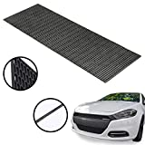 uyoyous Universal Honeycomb Hex Mesh - 47.2x15.7x0.16 Inches ABS Plastic Racing Hex Grill Mesh Sheet Perforated Black Grill Spoiler Bumper Vent for All Kinds of Vehicles Car