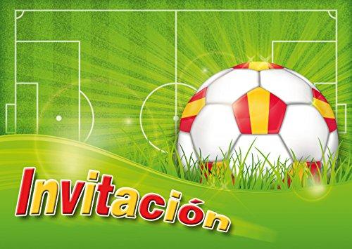 """Edition Colibri 10 Invitaciones en español """"Futbol"""": Juego de 10 Invitaciones al Futbol para cumpleaños Infantil o Fiesta (10960 ES)"""