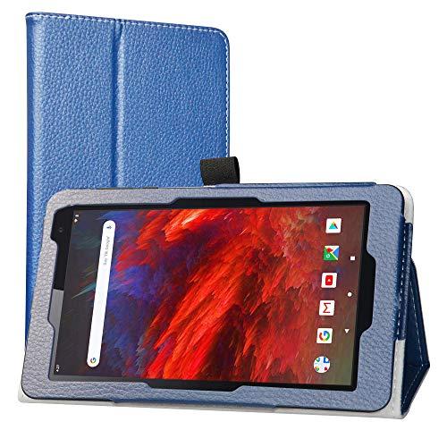 LiuShan Kompatibel mit VANKYO MatrixPad Z1 hülle, Folding PU Leder Tasche Hülle Case mit Ständer für 7