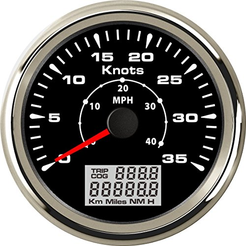 ELING Universal Marine GPS Speedometer Odometer 0-35KNOTS with Backlight 85mm
