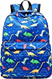 CAMTOP Preschool Backpack for Kids Boys Toddler Backpack Kindergarten School Bookbags (Cute Dinosaur-Dark Blue)