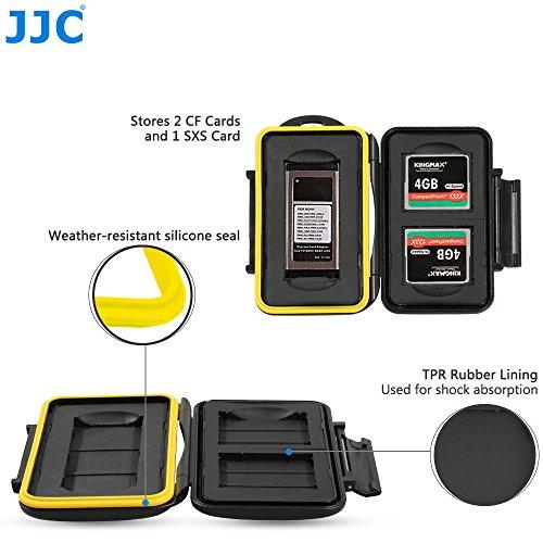 JJC Multi Memory Card Case MC-CF/SXS3 Speicherkarten Schutzbox für 1 Stück SXS und 2 Stück CF/C Fast Cards- extreme Wasserdicht und Stoßfest Box Safe Tasche Etui Aufbewahrungsbox Hülle