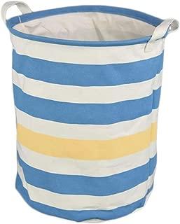 Q.AWOU Laundry Baskets Cotton Burlap Foldable Dirty Hamper Round Waterproof Storage Basket (Color : A)