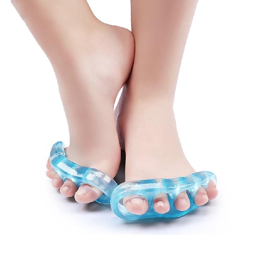 考えたとても構成するKonmed 足指 全開 シリコン製 外反母趾つま先オーバーラップパッドホルダ 足ゆび元気くん ハード, 1 対