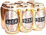 Brubaker Dosenbier Six-Pack Gold - Handbemalte Weihnachtskugel aus Glas - Mundgeblasener Christbaumschmuck Figuren lustig Deko Anhänger Baumkugel - 8 cm