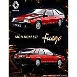 'Placa Metal Renault Fuego' I & S Collector (30x 40cm) * Modelo en Relieve *