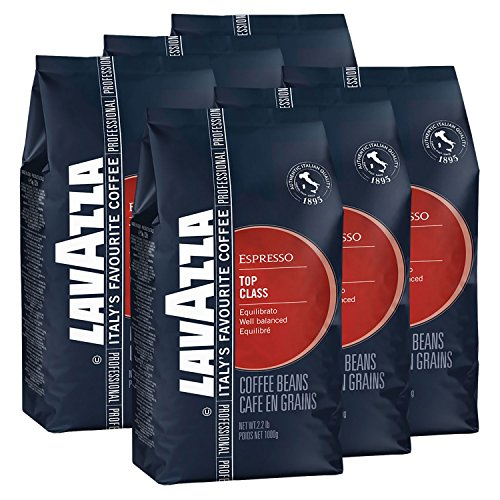 Lavazza Kaffee Espresso Top Class, ganze Bohnen, Bohnenkaffee (6 x 1kg Packung)