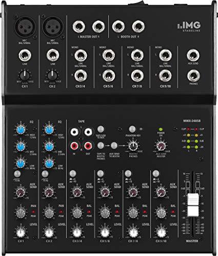 IMG STAGELINE MMX-24USB 6-Kanal-Audio-Mischpult schwarz