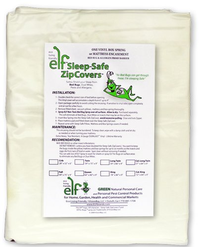 Sleep Safe ZipCover 6 Gauge Vinyl Bed Bug, Dust Mite, and...