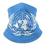 DJNGN Multifunktionaler Gesichtsschal Flag of The United Nations Adults/Kids Multifunctional Face Scarf Warm Windproof Uv Protection Microfiber Neck Warmer Unisex Scarf for Running Cycling Hiking NEC