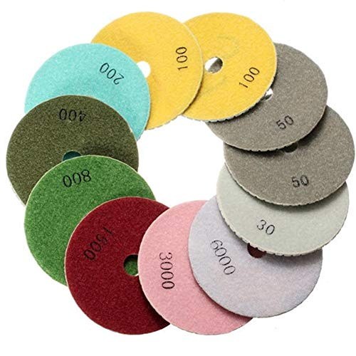 Great Features Of Multitool Sanding Kits 12pcs 4 Inch 30-6000 Polishing Pads with Self-Adhesive Disc...