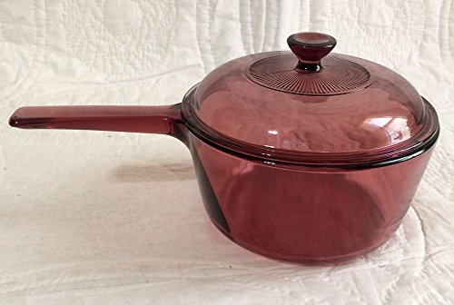 Corning Vision Visions Cranberry 1.5 L. Saucepan with Lid -  Corning Ware - Corelle - Pyrex, V-1.5-B, V-1.5-C