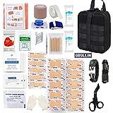 GRULLIN Kit de Control de Sangrado de Primeros Auxilios táctico de Emergencia EMT, Bolsa Militar MOLLE de liberación...