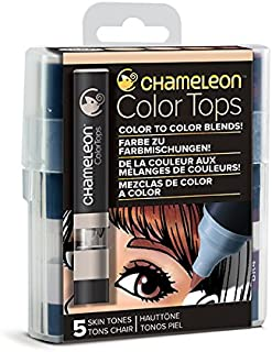 Chameleon Art Products - 5 Color Tops; Puntas de mezcla Chameleon; Tonos Piel