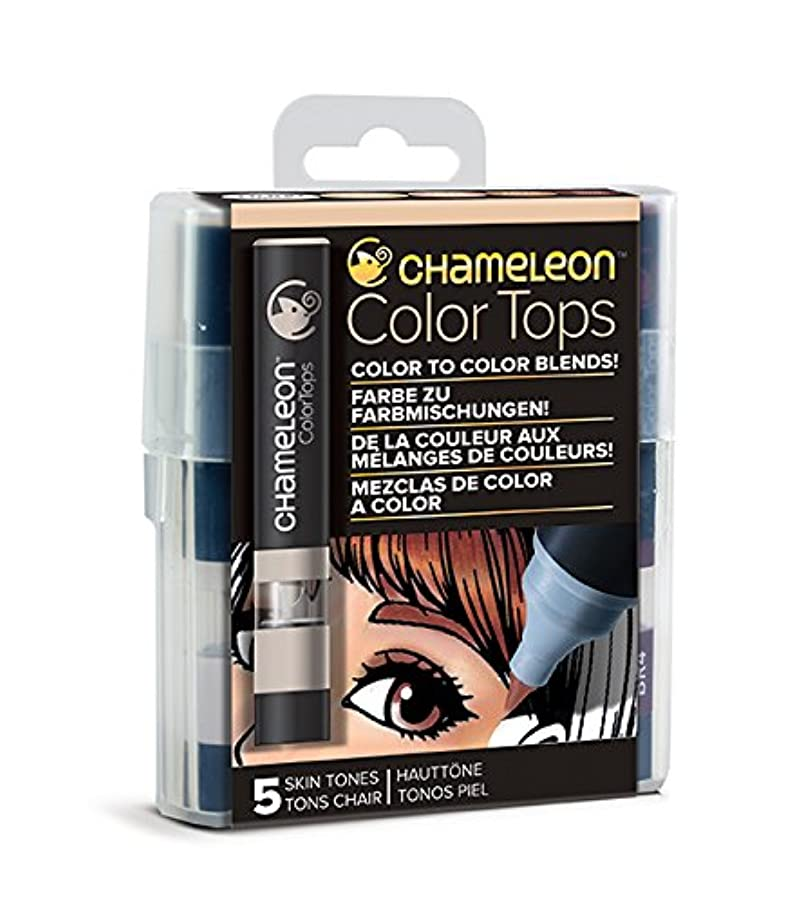 Chameleon Art Products Color Tops, Skin Tones 5-Pen Set