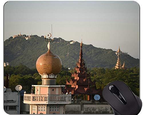 Einzigartige kundenspezifische Mausunterlage Mousepad, Moschee-große Buddha-Statuen-Mausunterlagen