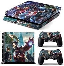 Funky Planet PS4 Umbrella Cuerpo Completo Accesorios Adhesivos sobre de la Piel Cubren la Etiqueta para PS4 Playstation 4, PS4 para la Etiqueta engomada (Heroes)