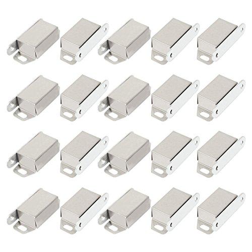 uxcell A14112700ux0084 Porte de placard 48 mm de long Single Loquet magnétique Fastener Loquet 20 pcs (lot de 20)