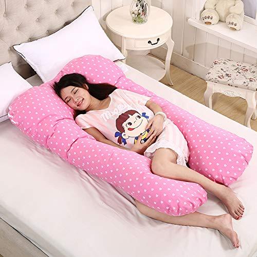 Romsion Home Multifunctionele Afneembare Slaapsteun Kussen voor Zwangere Vrouwen Body Kussen U Vorm Kussen Zwangerschap Zijslapers 70x130cm