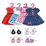 Lance Home 4 Vêtements et 4 Chaussures et 4 Cintres pour 18' poupées American Girl (12Pcs)