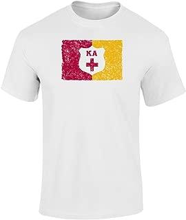 Kappa Alpha Vintage Distress Group Flag Print T Shirt