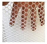 LinLiQiao Rete da Giardino Rete Anti-Uccello Rete Verde per Piante da Giardino Rete per Alberi da Frutto (Bianca, Apertura 1,2 Cm, Fascette per Cavi Incluse nel Kit)(Size:1.5M*3M)
